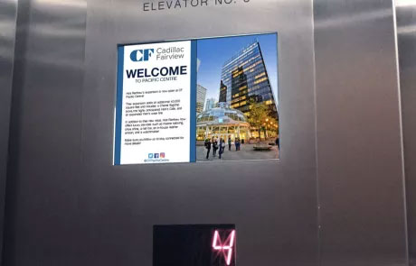 Captivate elevator screen tenant communication